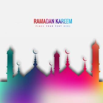 Kolorowe tło ramadan kareem