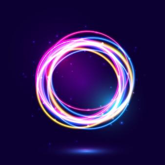Kolorowe tło światła neonowego