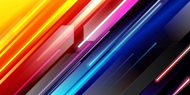 Kolorowe tło światła po przekątnej prędkości