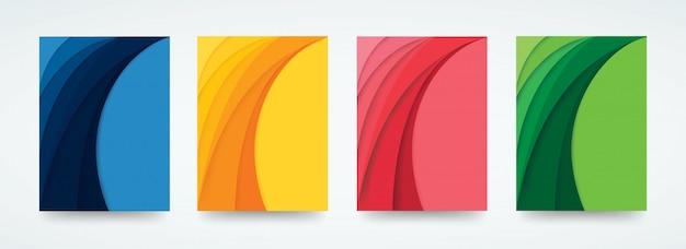 Kolorowe tło szablonu krzywej