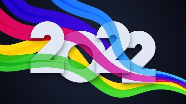 Kolorowe tło szczęśliwego nowego roku 2022
