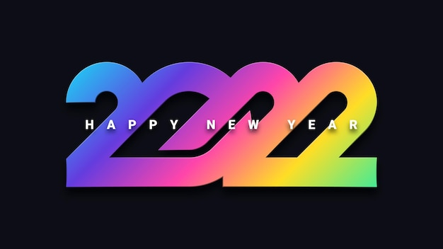 Kolorowe tło uroczystości szczęśliwego nowego roku 2022