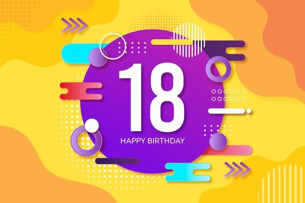 Kolorowe tło urodziny