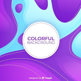 Kolorowe tło w kształcie
