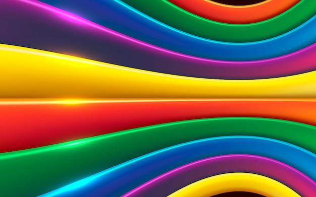 Kolorowe tło warstw wymiaru z błyszczącym efektem świetlnym