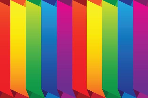 Kolorowe tło wektorowe z jasnymi liniami tęczy