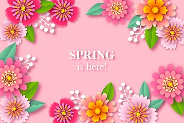 Kolorowe tło wiosna w stylu papieru