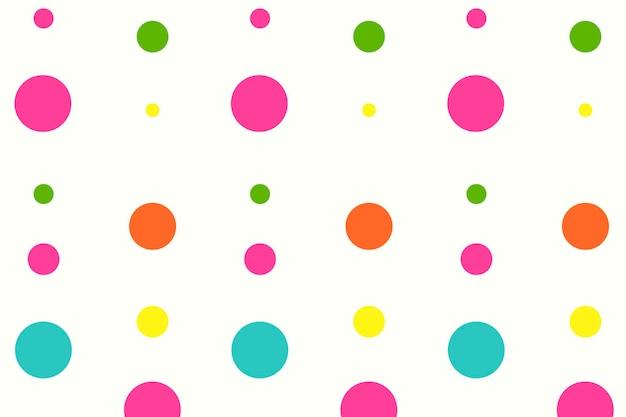 Kolorowe tło wzór, słodkie kropki w różowym wektorze