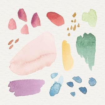 Kolorowe tło wzorzyste akwarela