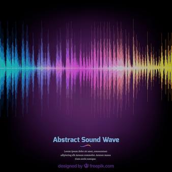 Kolorowe tło z abstrakcyjną falę dźwiękową