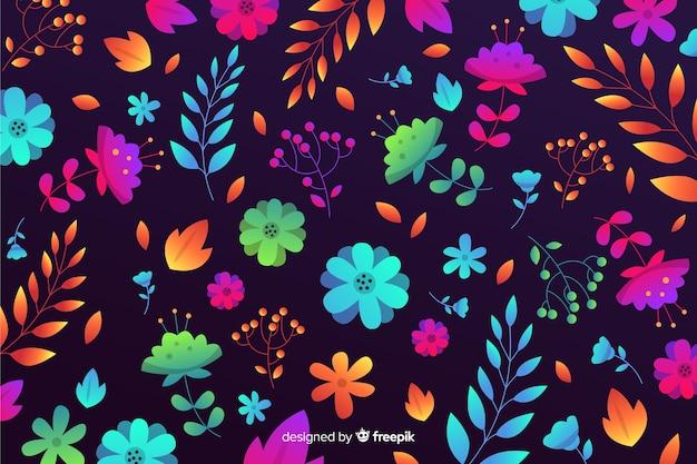 Kolorowe tło z pięknymi kwiatami i kwiatowy wzór