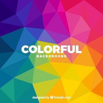 Kolorowe tło z wielobocznymi kształtami