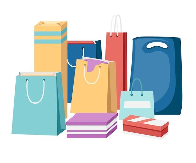 Kolorowe torby papierowe na zakupy