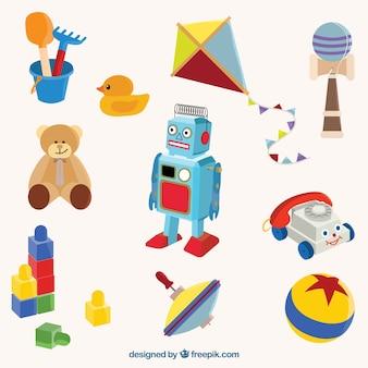 Kolorowe tradycyjne zabawki