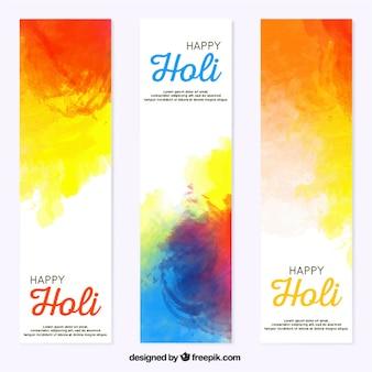 Kolorowe transparenty z abstrakcyjnych kształtów festiwalu holi