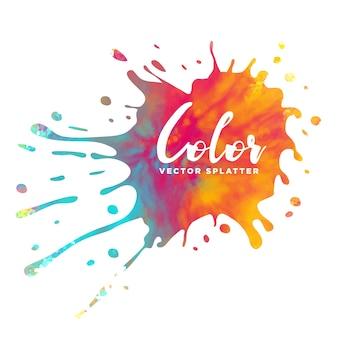 Kolorowe tuszem bryzg tle akwarela