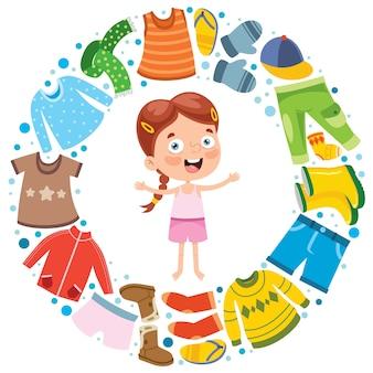 Kolorowe ubrania dla małych dzieci