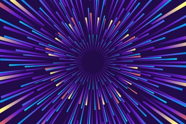 Kolorowe w zimnych kolorach tło światła prędkości