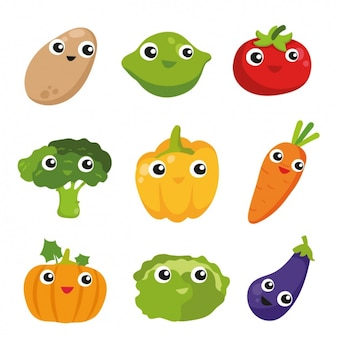 Kolorowe Warzywa Kolekcji Darmowych Wektorów