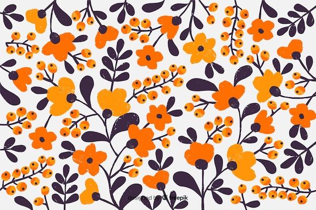 Kolorowe wiosenne kwiaty tło