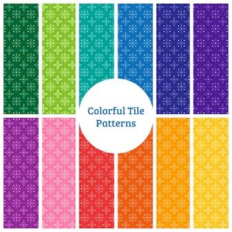 Kolorowe wzory płytek