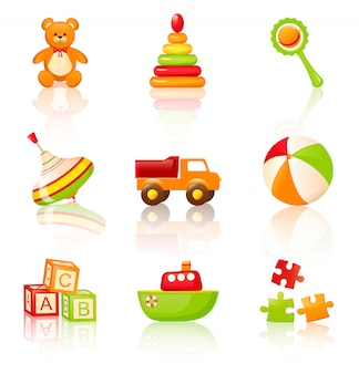 Kolorowe zabawki dla dzieci.
