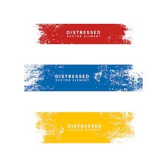 Kolorowe zakłopotane banery