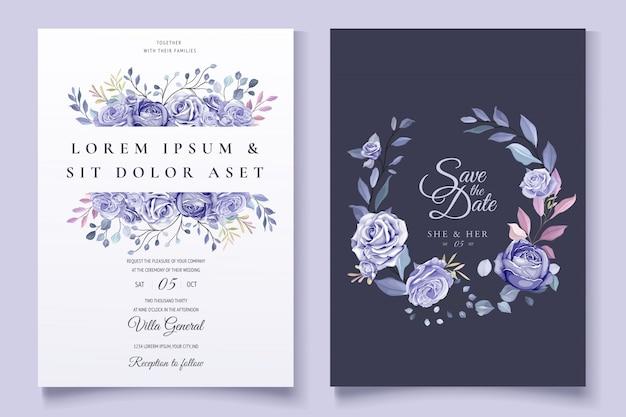 Kolorowe zaproszenie na ślub kwiatowy