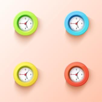 Kolorowe zegary