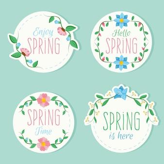 Kolorowe znaczki z motywem wiosennym