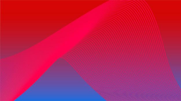 Kolorowe żywe grafiki 3d fali