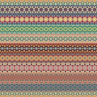 Kolorowego plemiennego rocznika etniczny bezszwowy wzór