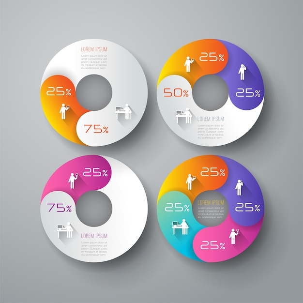 Kolorowi biznesowi infographic elementy dla prezentaci