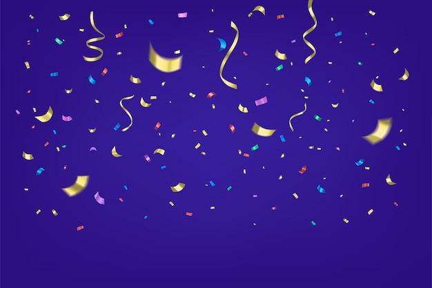 Kolorowi confetti odizolowywający na białym tle