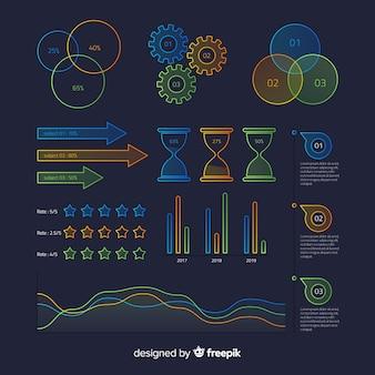 Kolorowi infographic elementy z gradientowym skutkiem