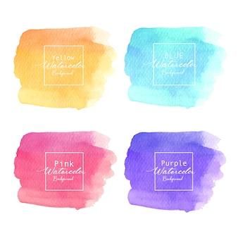 Kolorowy abstrakcjonistyczny akwareli tło. akwarela element karty.