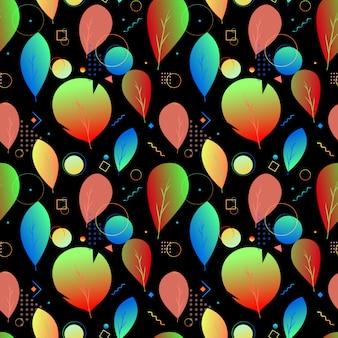 Kolorowy abstrakcjonistyczny nowożytny liść bezszwowy wzór
