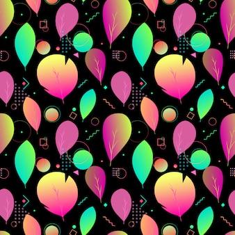 Kolorowy abstrakcjonistyczny nowożytny liścia wzór