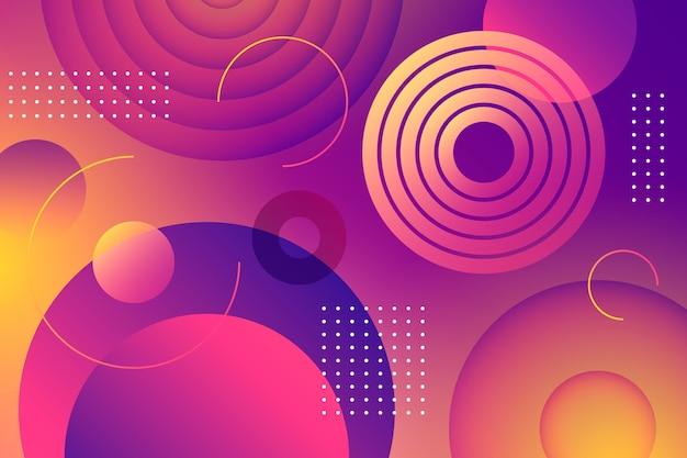Kolorowy abstrakcjonistyczny tło z okręgami