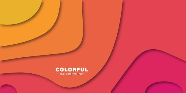 Kolorowy abstrakcjonistyczny tło z wyginającymi się kształtami z 3d skutkiem.