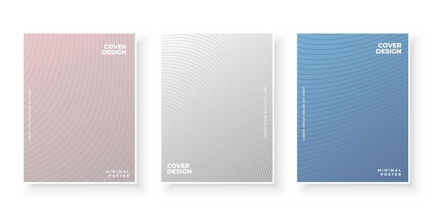 Kolorowy abstrakcyjny szablon z liniami gradientu do projektowania okładki