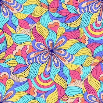 Kolorowy abstrakcyjny wzór bez szwu