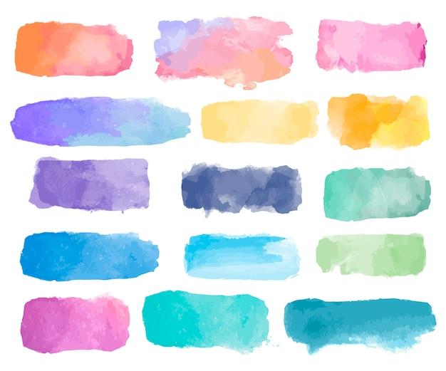 Kolorowy akwareli łaty tła wektor