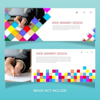 Kolorowy baner firmy internetowej