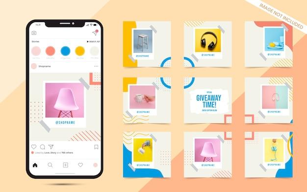 Kolorowy baner pocztowy w mediach społecznościowych do promocji sprzedaży mody