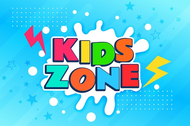 Kolorowy baner strefy dla dzieci