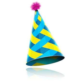 Kolorowy błyszczący kapelusz na uroczystości
