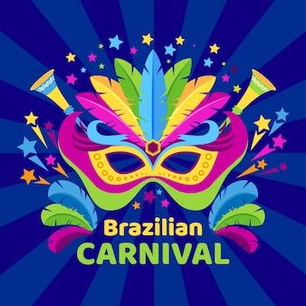 Kolorowy brazylijski karnawałowy tło