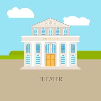 Kolorowy budynek teatru miejskiego