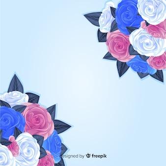 Kolorowy bukiet kwiatów tło